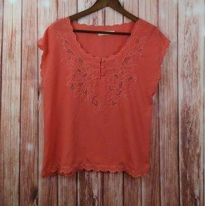 Pins and needles coral blouse sz medium